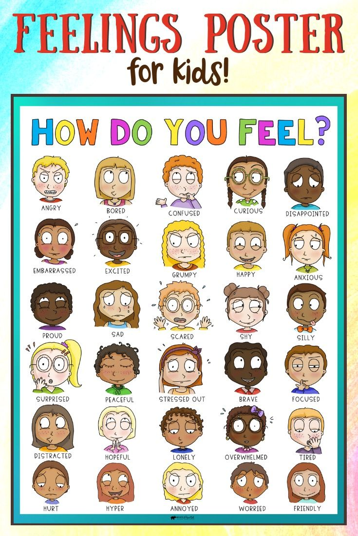 Feelings Poster Comes in Feeling Card Games Resource, for
