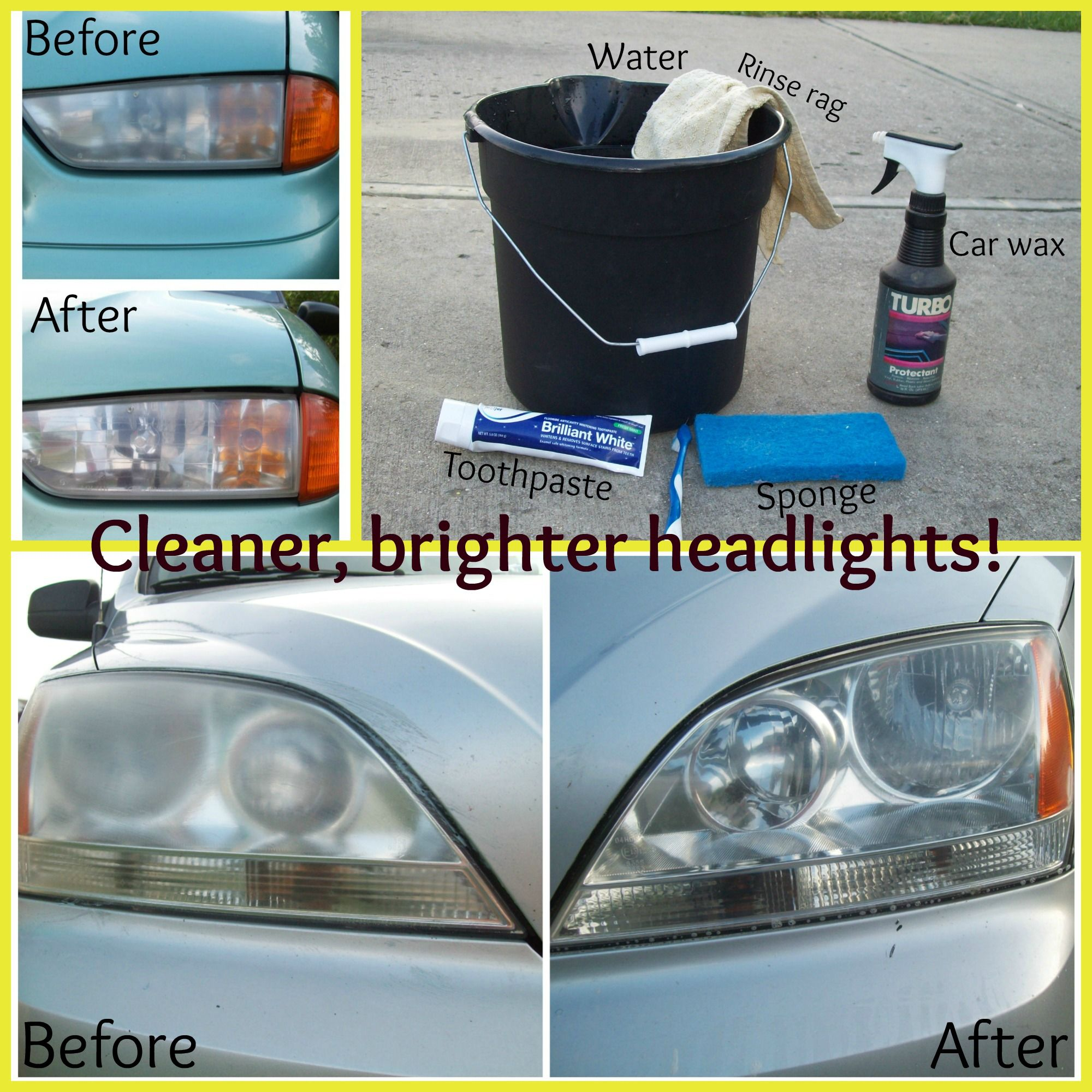 Cleaner Brighter Headlights With Toothpaste A Cheap Quick Easy