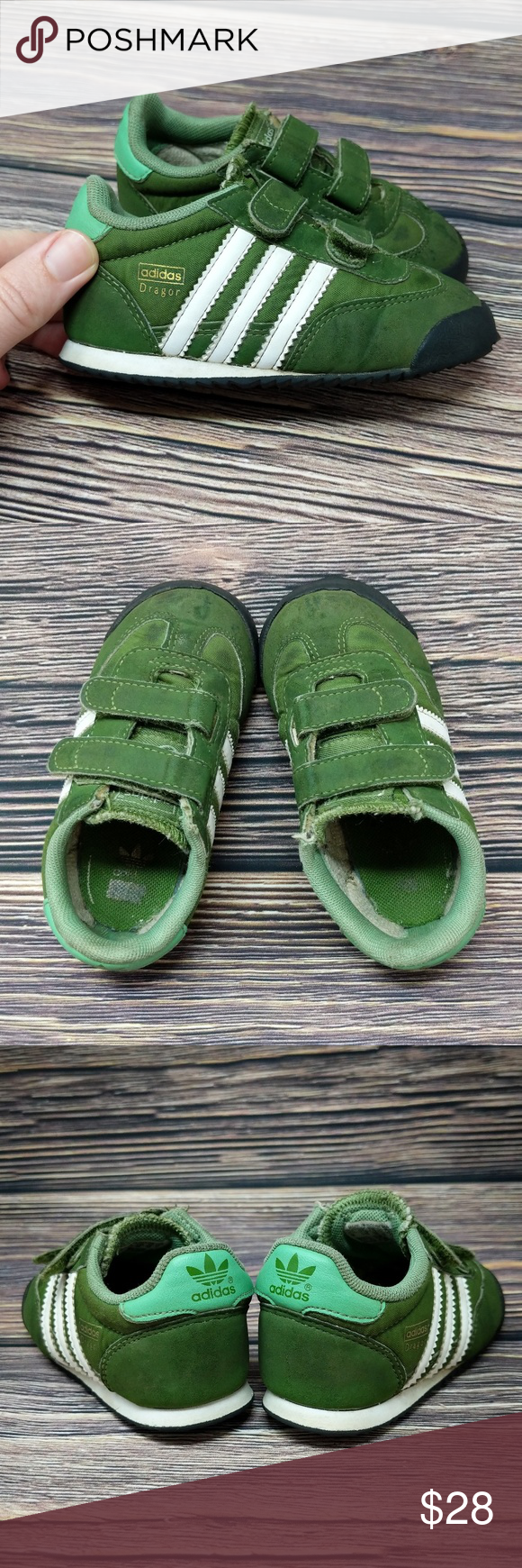 Adidas Dragon Trainer Toddler Baby Shoes sz 6 | White shoes ...