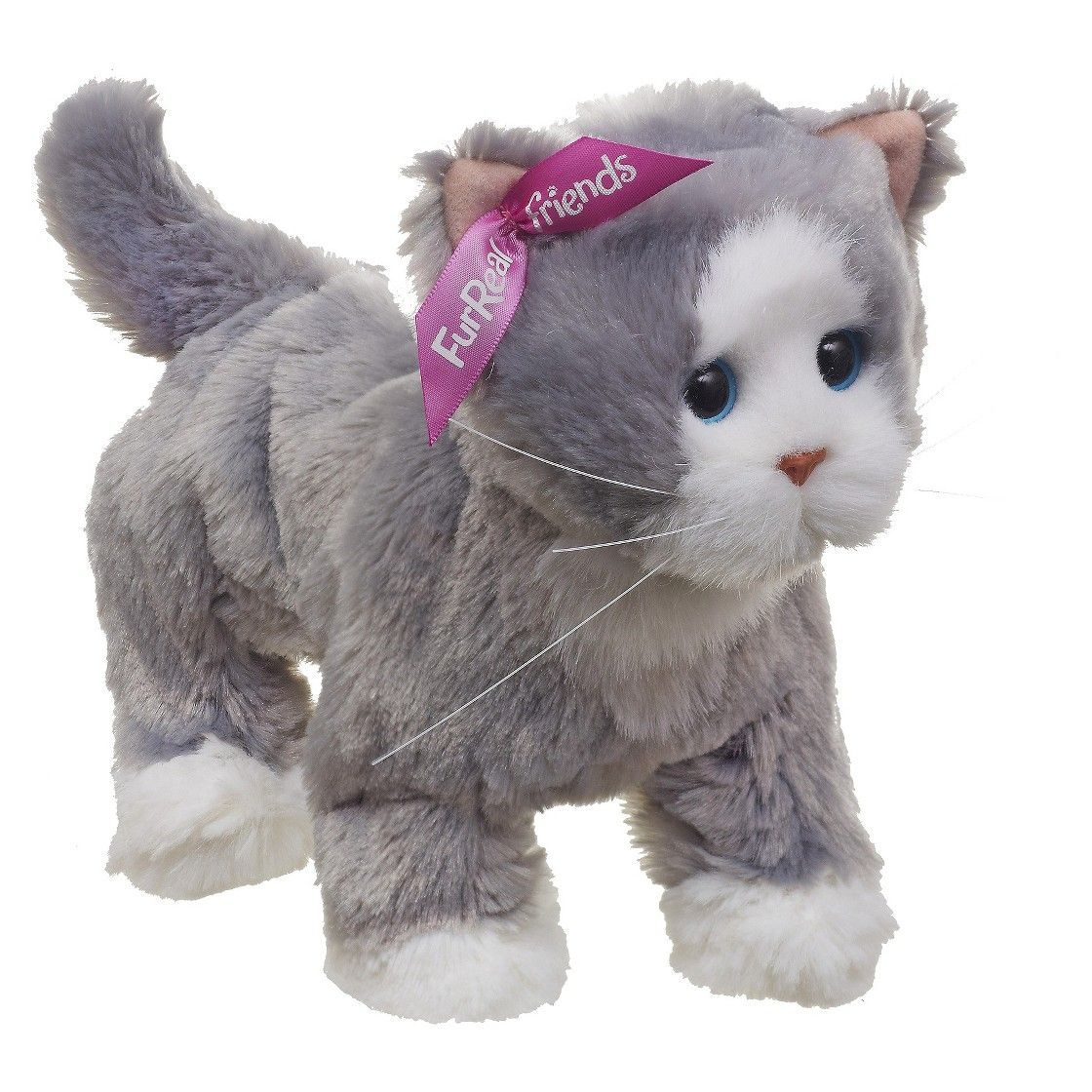 Furreal Friends Lulu S Walkin Kitties Bootsie Pet Grey White Fur Real Friends Kitty Pets