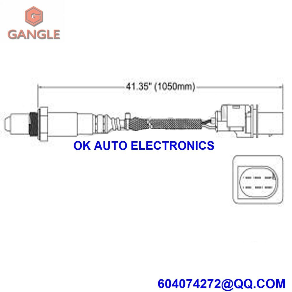 Oxygen Sensor Lambda Air Fuel Ratio O2 For Bmw 5 Schematic Series E61 E60 520i