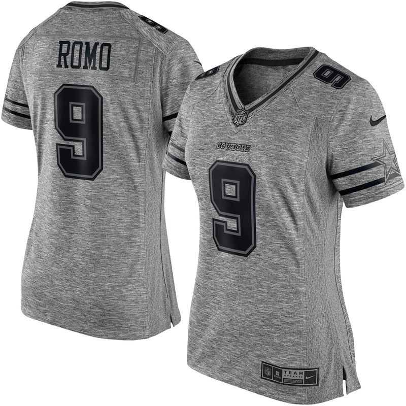 Tony Romo Dallas Cowboys Nike Women s Gridiron Gray Limited Jersey - Gray 3de9796930