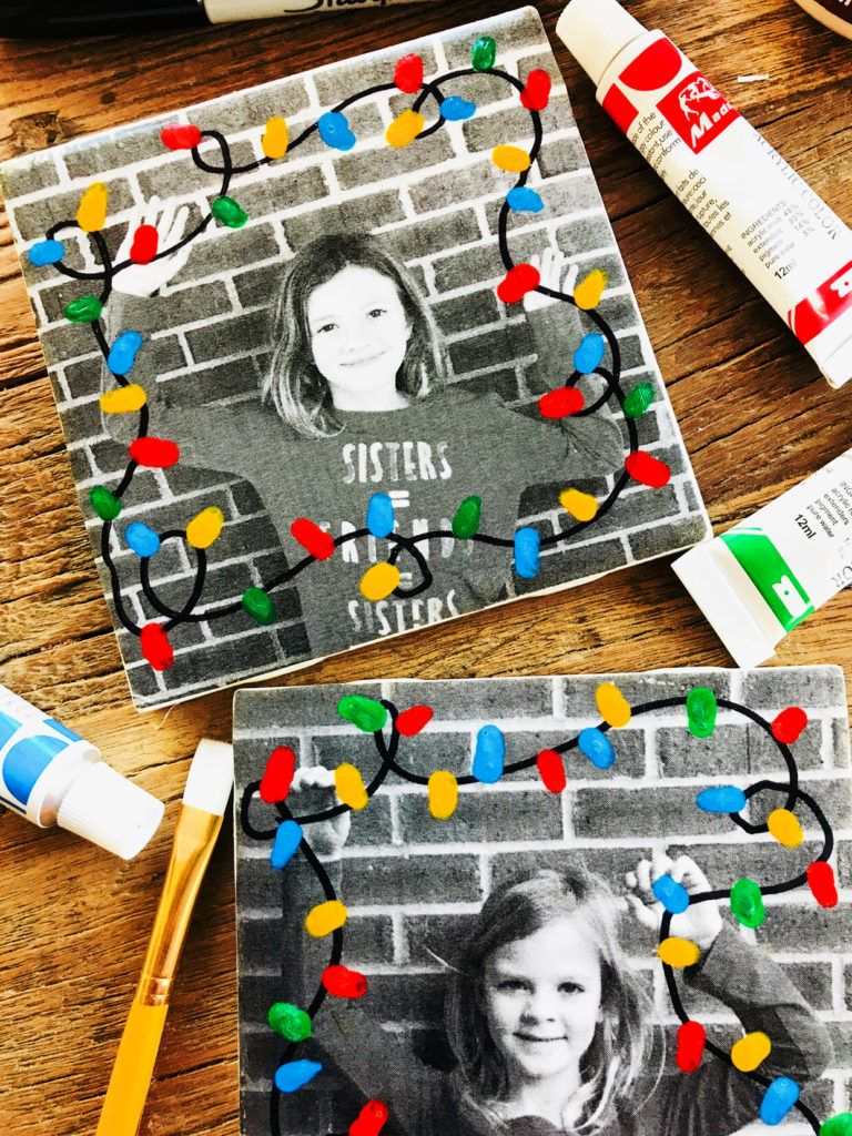 Christmas Tiles -   18 holiday crafts kindergarten