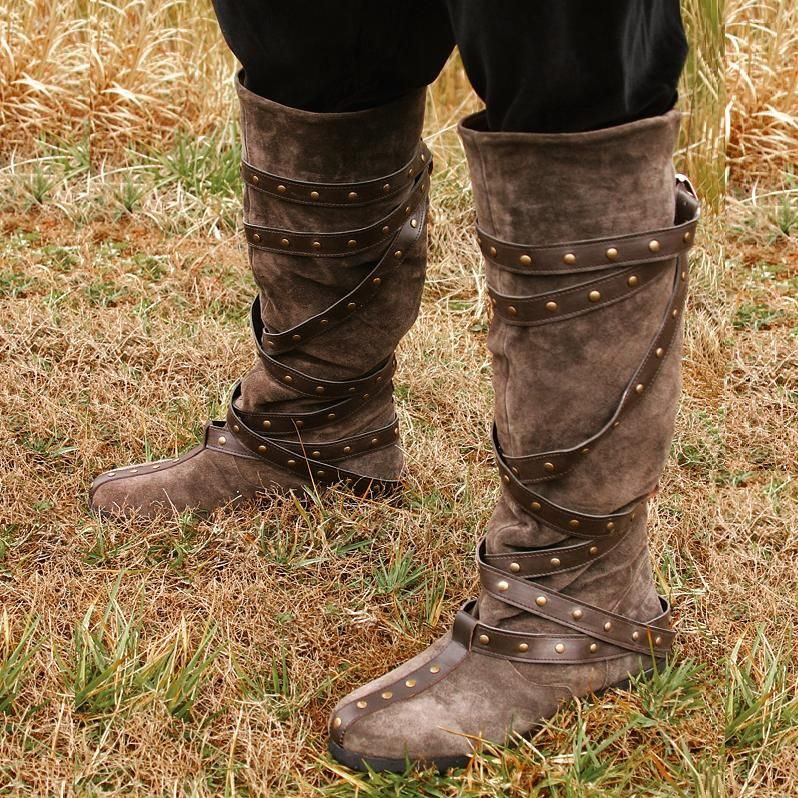 ebd965ad8d1 Warrior Boots - Brown Suede Re-enactment Stage & LARP | WANTS for ...