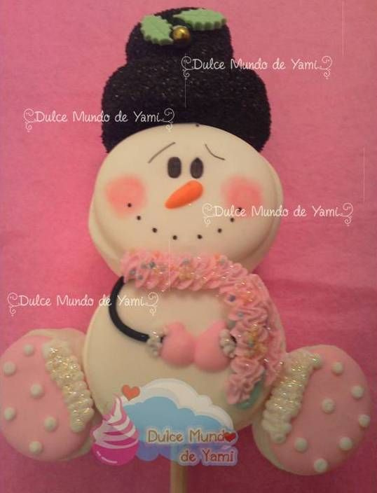 Elaborado por dulce mundo de yami armado con bomb n made with marshmallows christmas - Cd decorados de navidad ...