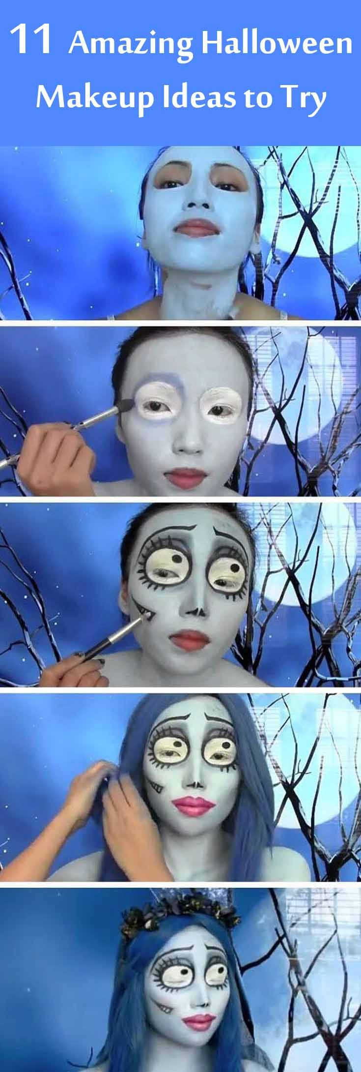 11 Amazing Halloween Makeup Ideas To Try : Halloween Face