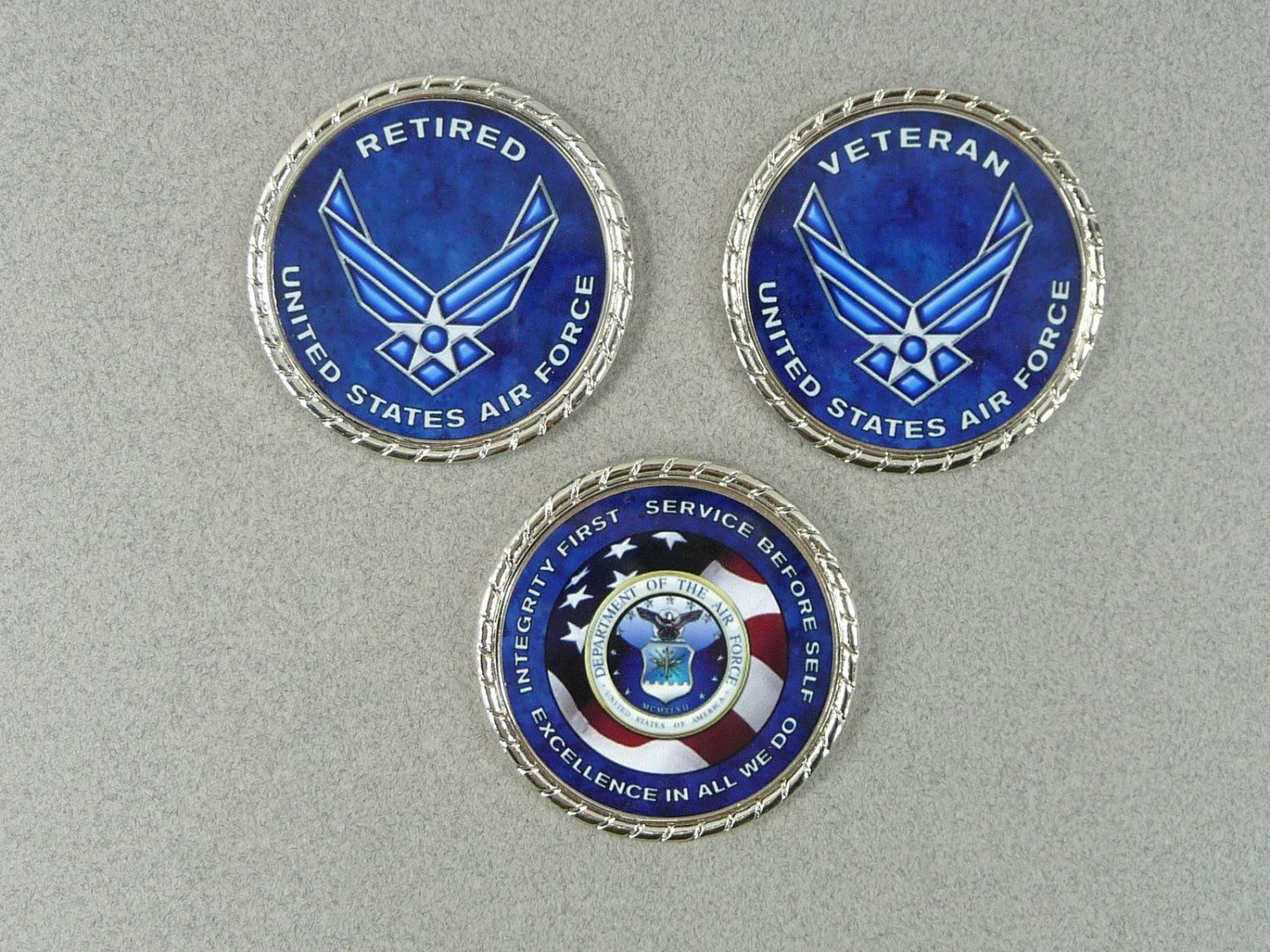 AIR FORCE COIN Retired Veteran Challenge Coin Retirement