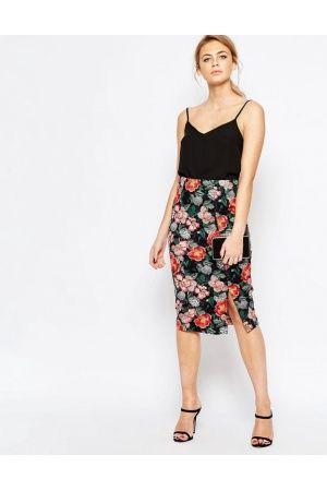 efd03c40a44d Jupes crayon femme - Oasis Jupe fourreau fleurie