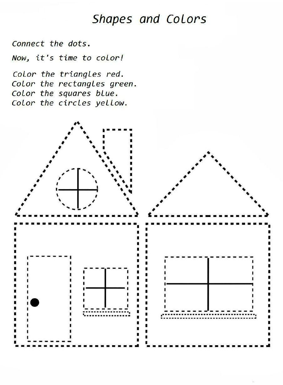 Preschool Shapes And Colors Worksheets Trace Then Color As Directed Shapes Preschool Color Worksheets Shapes [ 1230 x 904 Pixel ]