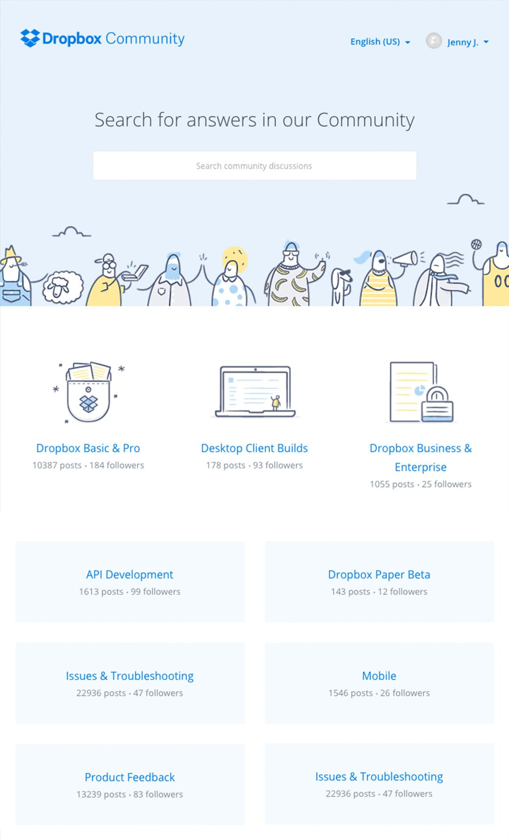 Dropbox asked us to create a forum for users. Our role: UI/UX,       strategy, development.