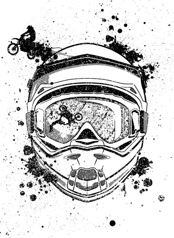 Motocross Vector Poshuk Google Tatuagem Motocross Desenhos De
