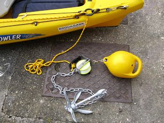 Anchor Trolley Rig Buoy Divers Reel And Chain Kayak