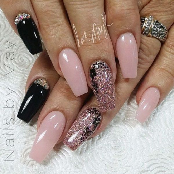 50 COFFIN NAIL ART DESIGNS FOR ANY SEASON IN 2017 - 50 COFFIN NAIL ART DESIGNS FOR ANY SEASON IN 2017 Coffin Nails