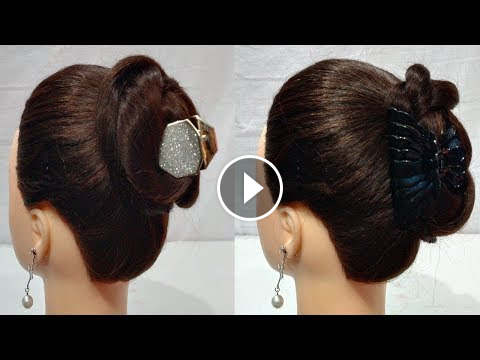 2 Easy Juda Clutcher Bun Hairstyles Hair Style Girl Everyday Hairstyle Simple Hairstyle India Girls Hairstyles Easy Bun Hairstyles Easy Bun Hairstyles