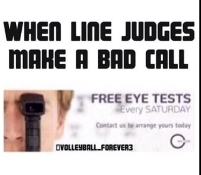 I Wanna Give This To The Line Judges And To The Score Keeper In Jr High Games Our 3rd Game Th With Images Volleyball Chants Volleyball Jokes Volleyball Problems