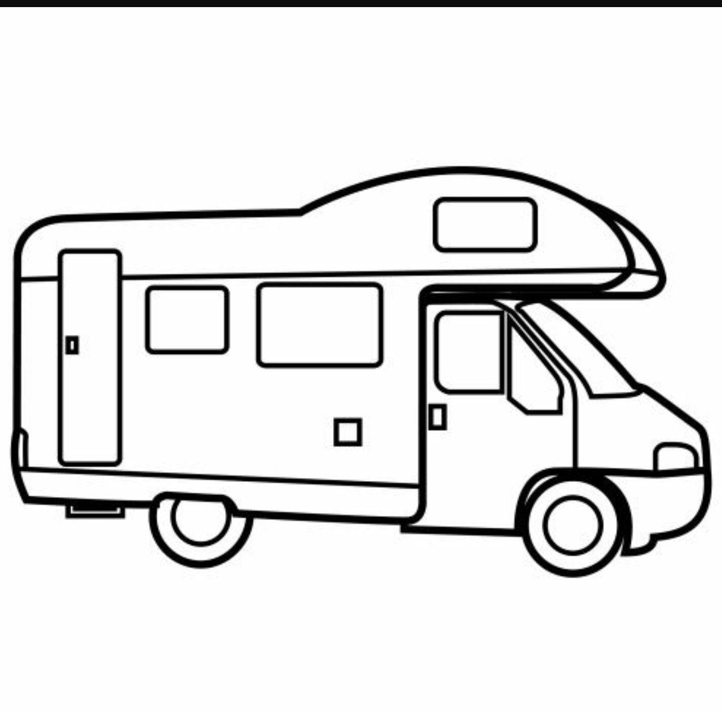 Pin by Joan on para imprimir  Camper drawing, Camping coloring