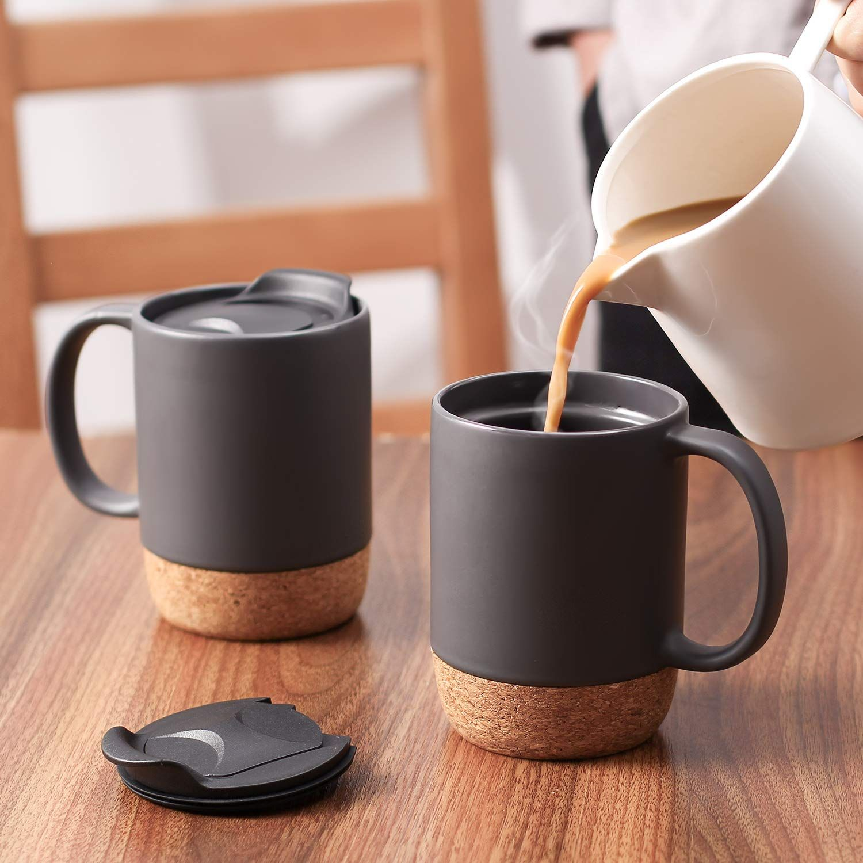 15 oz coffee mug set 2 pcs reusable 15 ounces large
