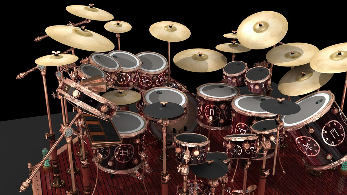 Image Result For Neil Peart Drum Kits