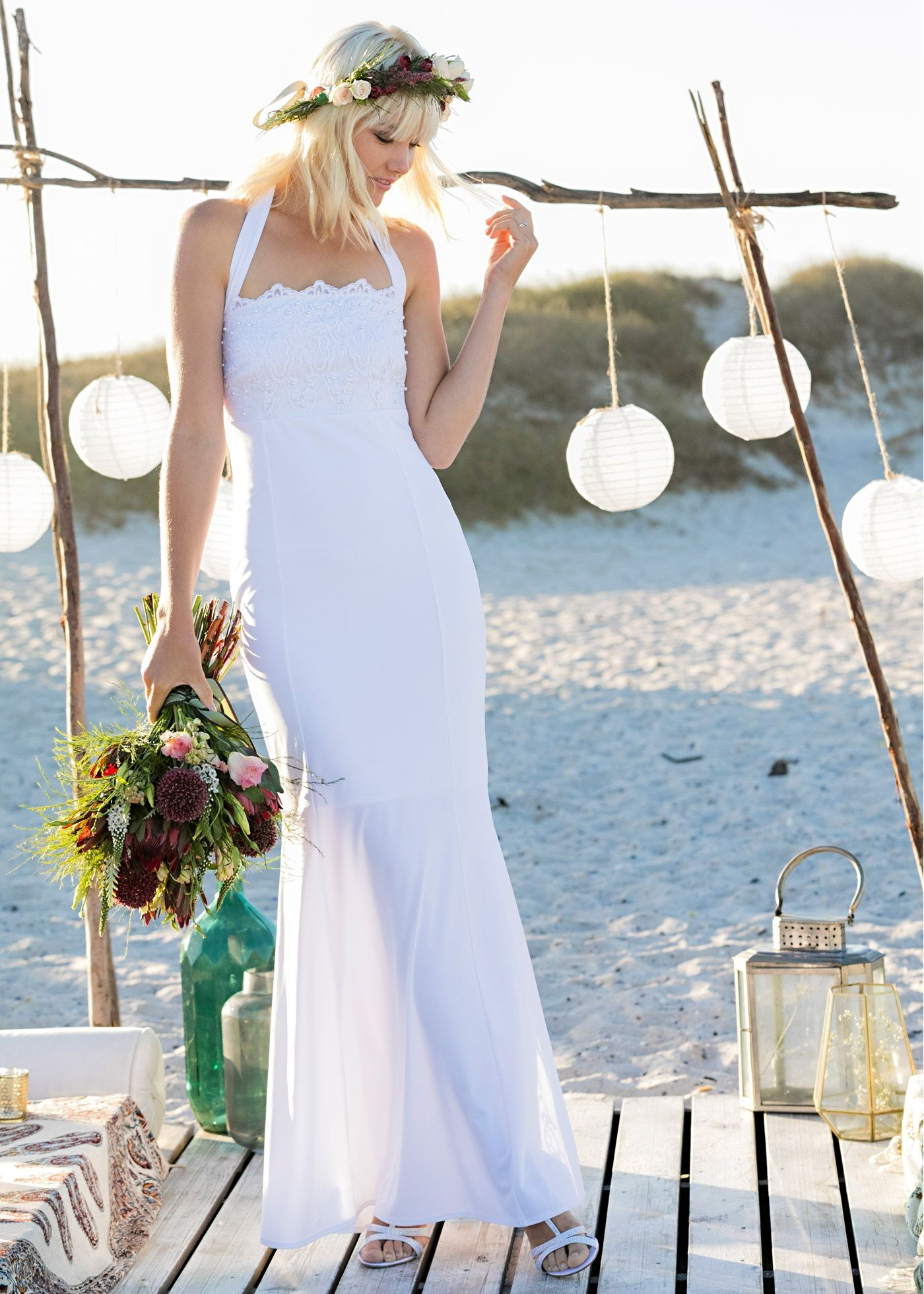 Hochzeitskleid weiß - BODYFLIRT boutique jetzt im Online Shop von
