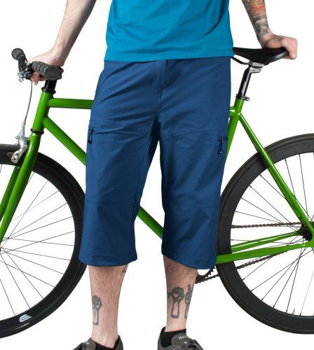 Mens Bicycle Commuter Urban Pedal Pusher Knickers w Zippered Pockets Stretch Woven Navy Blue 4XL ** Find out more about the great product at the image link.(This is an Amazon affiliate link and I receive a commission for the sales)