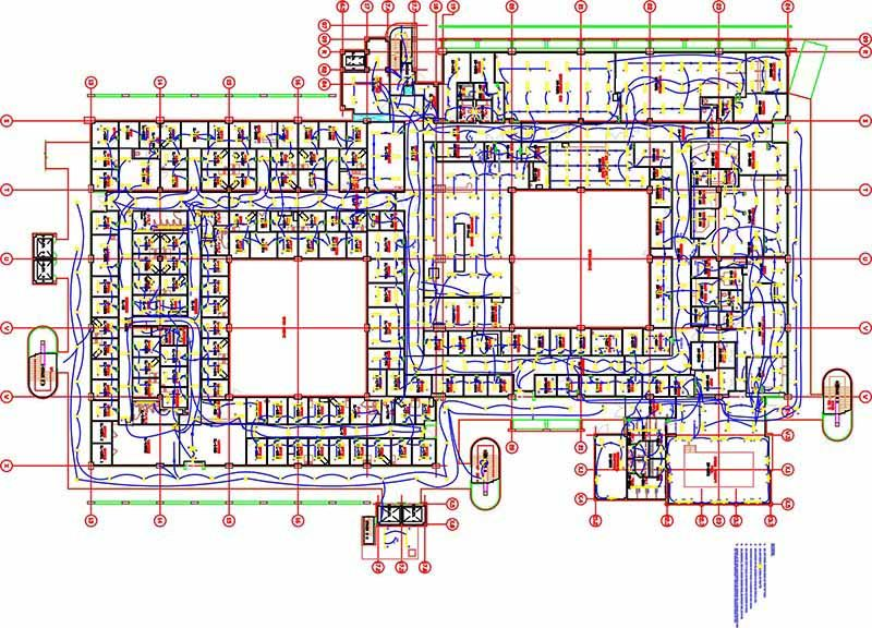 Lighting Outlet Layout Mep Lighting Layout | Mep Bim Project | Hvac Design