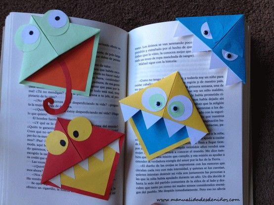 Marca Paginas De Monstruos Manualidades Manualidades Infantiles Manualidades Libro