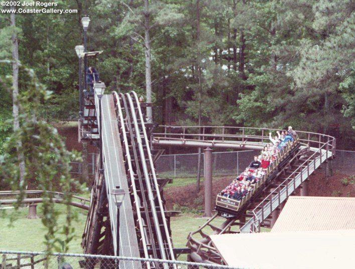 Dahlonega Mine Train Six Flags Over Georgia Austell Georgia Usa Austell Dahlonega Roller Coaster