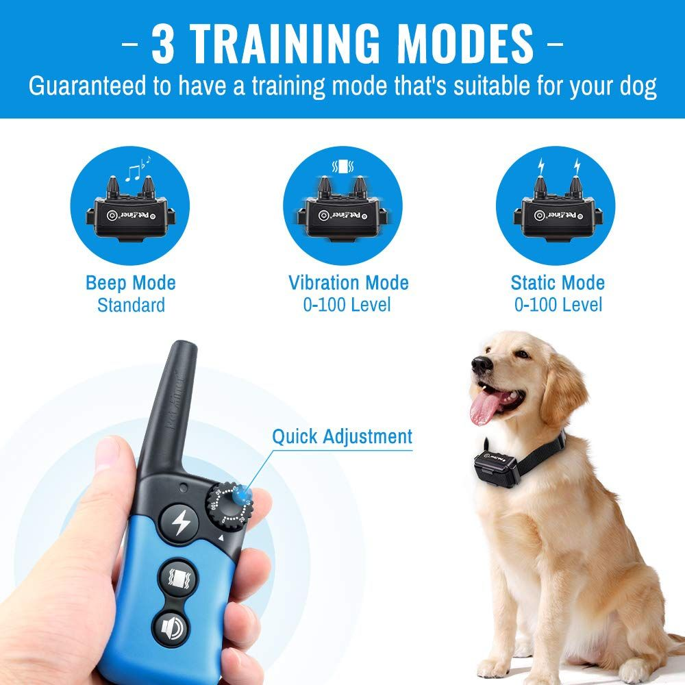 Dog Training Collar Rechargeable Remote Dog Shock Collars For