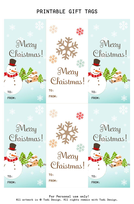 free printable christmas tags and labels   todi: Spirit of Christmas ...