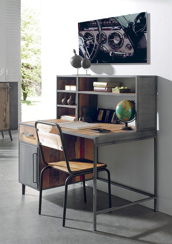 bureau manado en bois de bateau recycl de chez cocktail scandinave mobilier dcoration d - Cocktail Scandinave Bureau