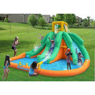 Kids Pools With Slides water slides inflatable huge fun outdoor kids spray cannon