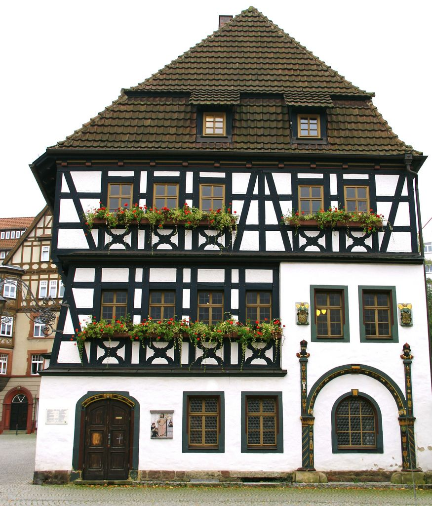 Lutherhaus Eisenach, Germany - While attending school in Eisenach Martin Luther later the Reformer lived here 1498 to 1501 with the Gotta family. Today it is a shop and museum.