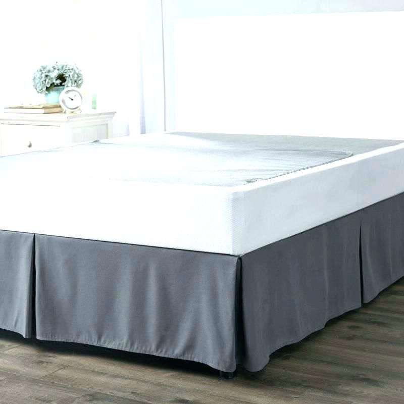 How To Make Bed Skirt For Low Profile Box Spring Bedskirt Bed How To Make Bed