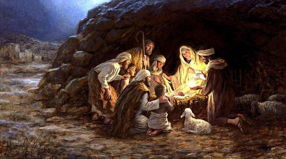Christmas Shepherds.True To Scripture A Cave Style Manger And Shepherds No