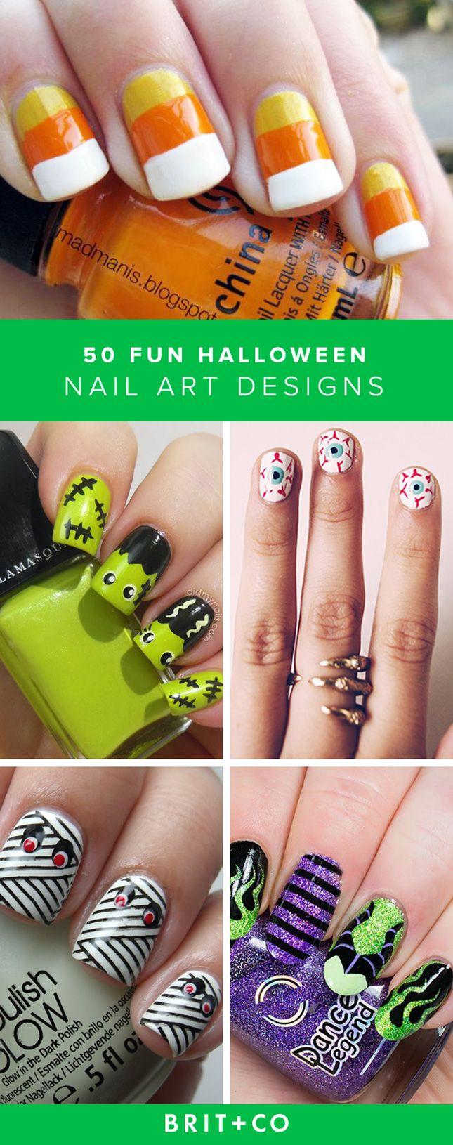 65 Amazing + Creative Halloween Nail Art Designs | Halloween ...