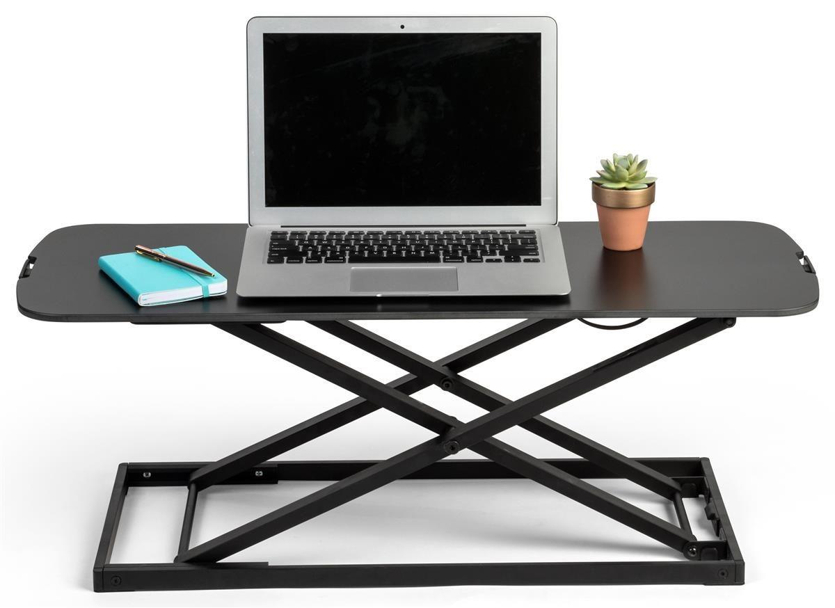 31 X 22 Sit Stand Desktop Workstation Gas Lift Adjustable Height White Adjustable Height Standing Desk Standing Desk Converter Adjustable Standing Desk Converter