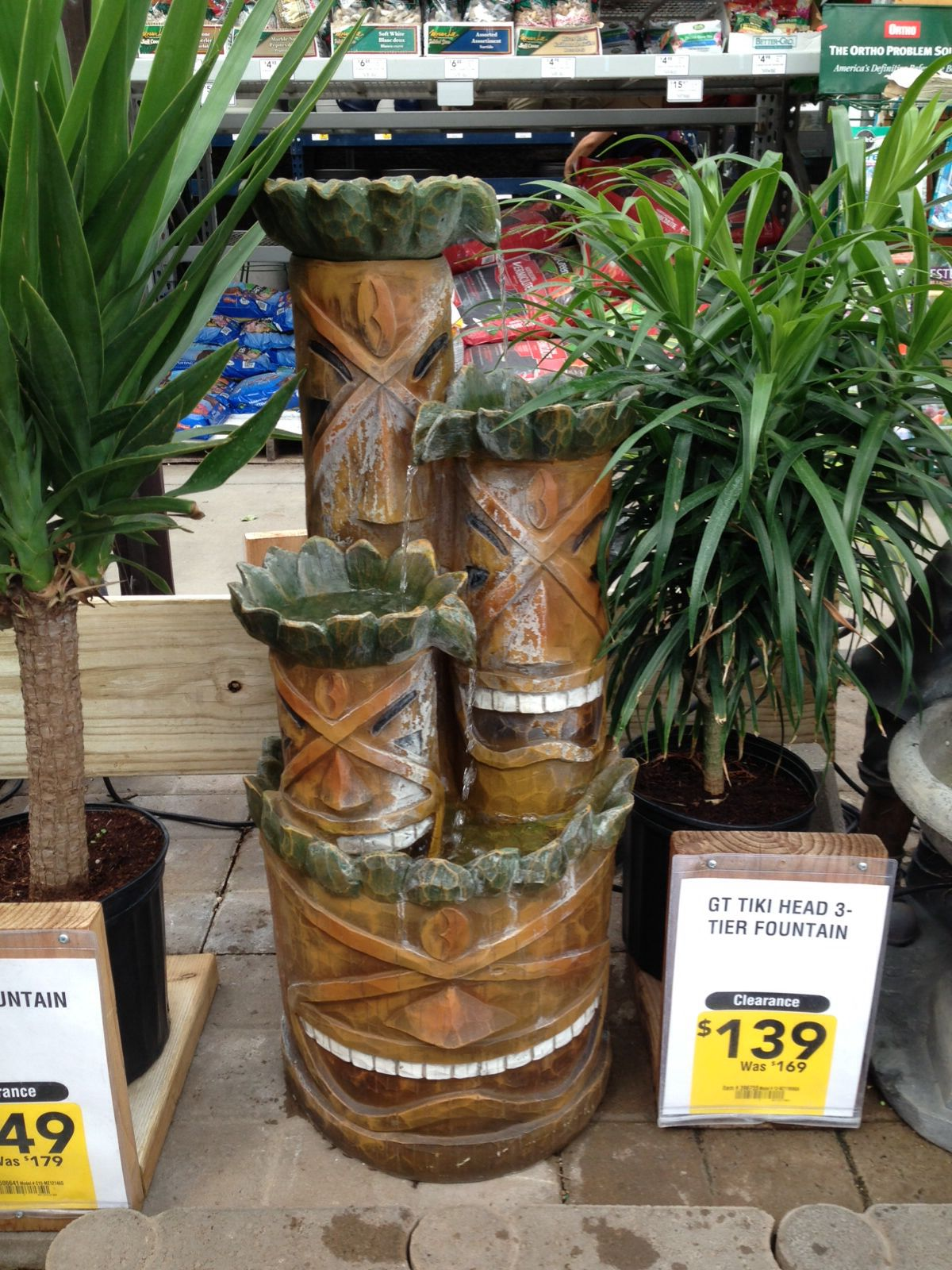Tiki fountain at Lowes | Backyard ideas in 2019 | Tiki room, Room