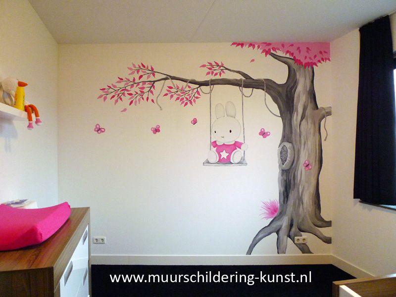 nijntje muurschildering babykamer | muurschildering babykamer, Deco ideeën