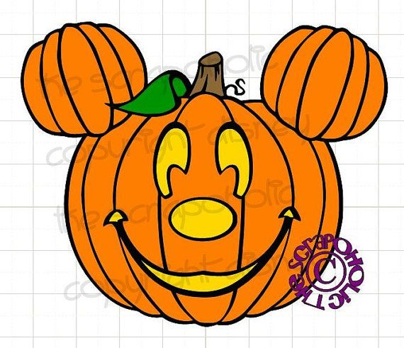 Disney Halloween Mickey Mouse Pumpkin MTC & SVG by TheScrapoholic