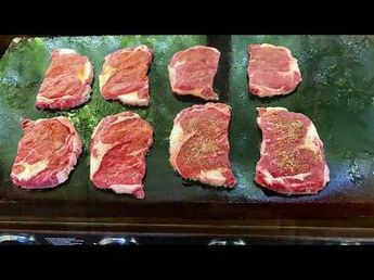 07c925c536bc How to cook perfect steak on a blackstone griddle - YouTube ...