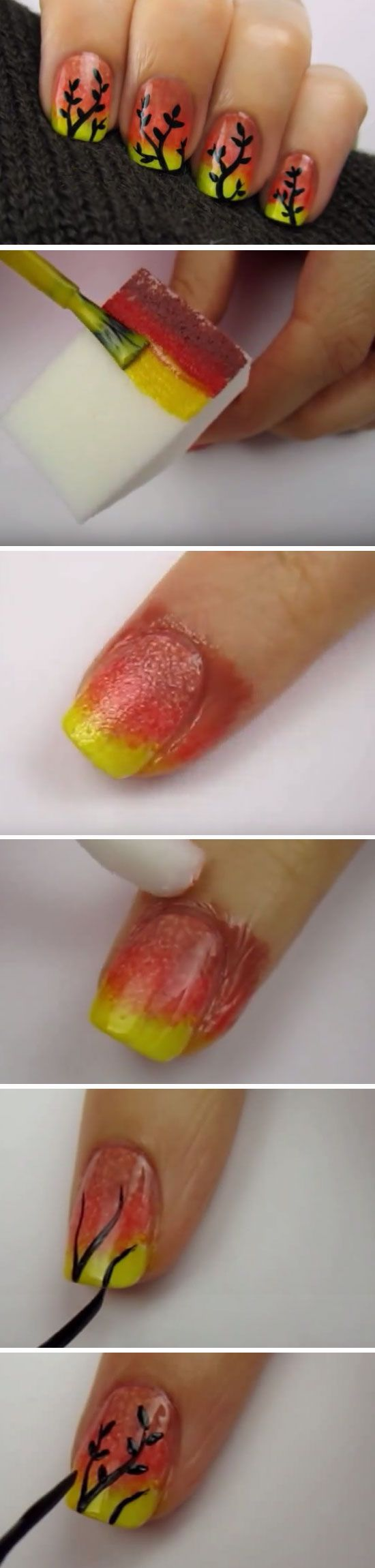 22 Easy Fall Nail Designs for Short Nails | Ombre nail art, Short ...