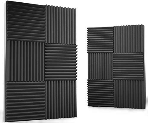 12 pack Acoustic Panels  Acoustic Foam Panels  Sound Proof Studio foam Sound Dampening n