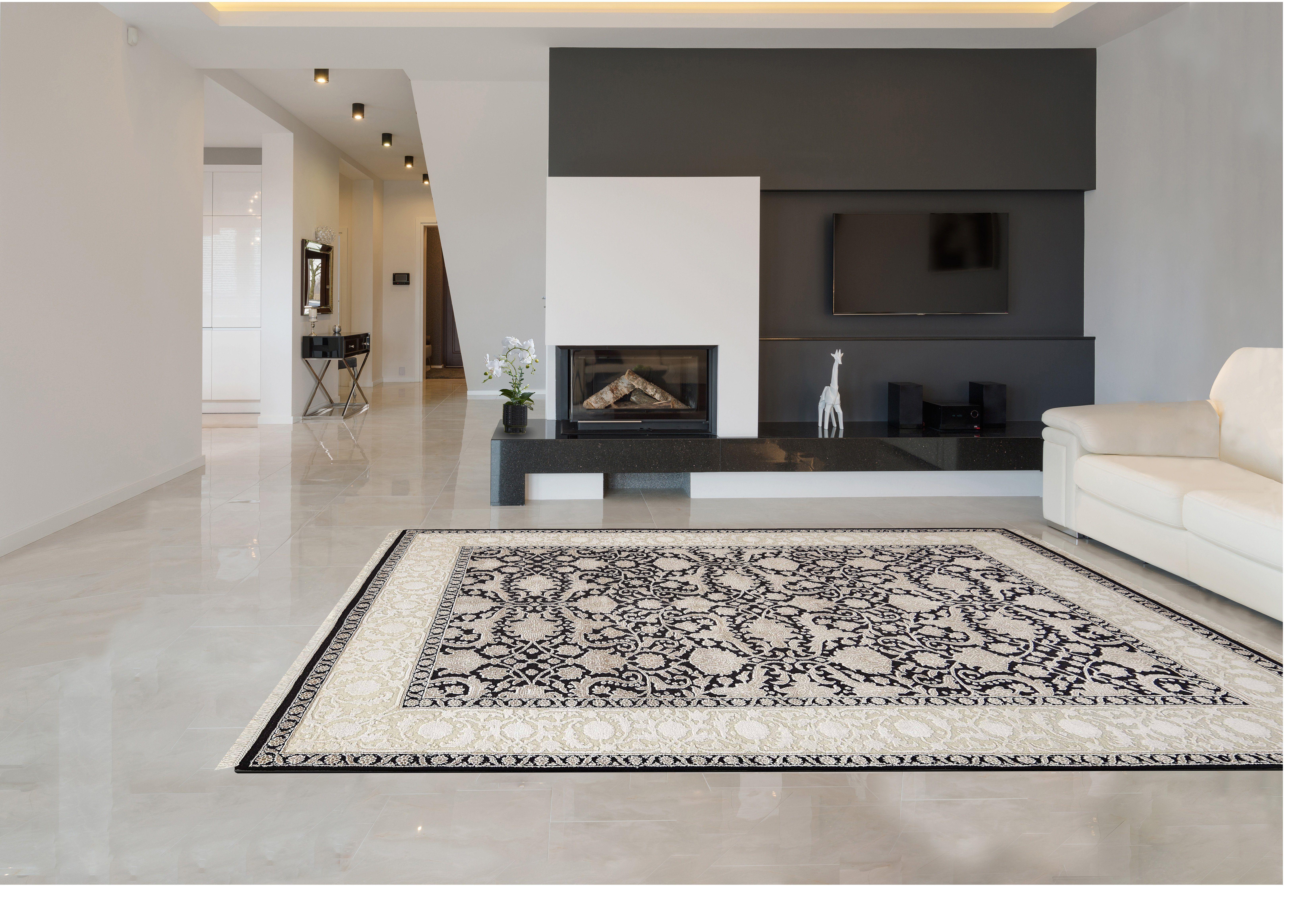 Der Teppich Quot Black 19 Quot Ist Eine Designvariante Der Linie Quot Alema Quot Perserteppich Wohnideen Haus Innenarchitektur