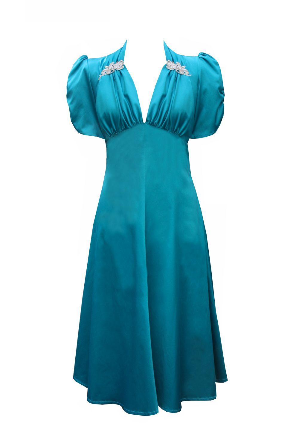 Tara Starlet 1940s 40s Style: Satin Sweetheart Dress