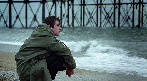 Iconic shot of Jimmy on Brighton Beach (Quadrophenia, 1979)...
