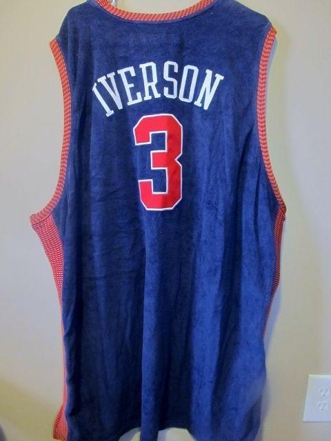 Allen Iverson - 1954-55 SYRACUSE Nationals jersey - Reebok Adult 4XL   Reebok  Philadelphia76ers 3be5ff12f
