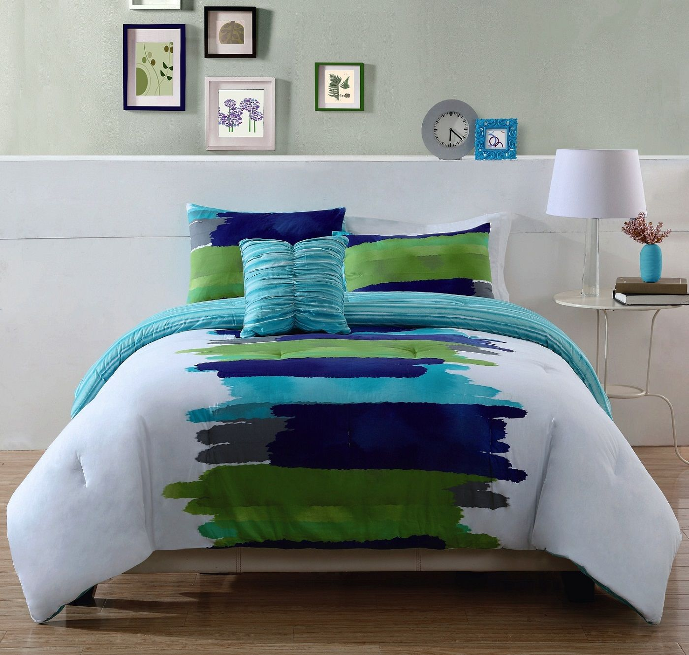 piece queen adelisa aqua green and blue bedding set comforter sets style ease with