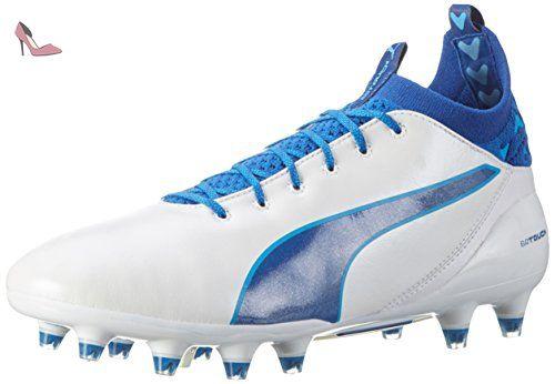 Puma Evotouch 3 AG, Chaussures de Football Homme, Blanc White-True Blue-Blue Danube 02, 40 EU