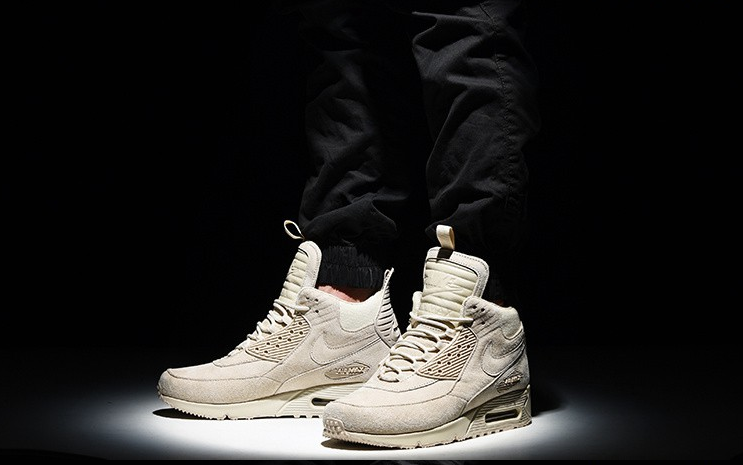 5465214fa47feb NIKE AIR MAX 90 SNEAKERBOOT ICE RICE YELLOW KHAKI 681714 021  140 ...