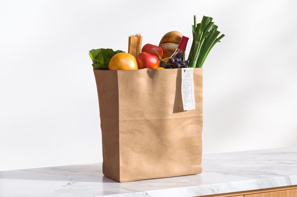 Paper Bag Full Of Groceries 3d Model Paper Bag Grocery Bags
